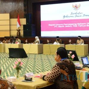 RUPS Bank Jatim Bagikan Deviden Rp 723,7 Miliar ke Pemda se-Jawa Timur