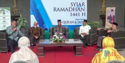 Kiai-kiai UIN Malang saat diskusi tematik dalam acara Syiar Ramadan. (Foto: istimewa)