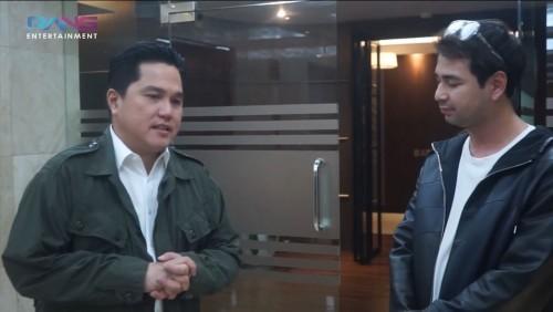 Saat Raffi Ahmad Bongkar Isi Tas Menteri Erick Thohir, Isinya MasyaAllah