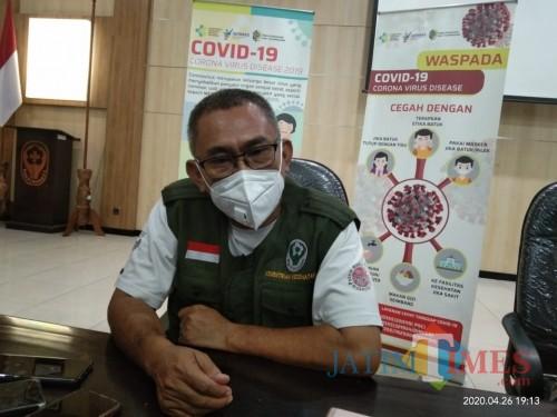Sekretaris Posko Penanggulangan Covid19 Dinkes Tulungagung, Didik Eka (Joko Pramono/ JatimTIMES)