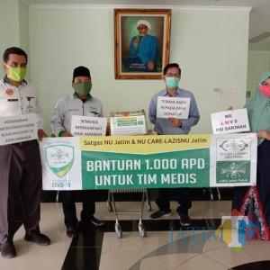 Gerakan Seribu APD, Laziz NU Jatim Sasar Rumah Sakit di Berbagai Pelosok Daerah