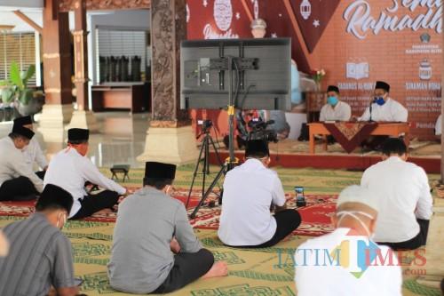 Pemkab Blitar gelar tadarus online di bulan suci Ramadan.(Foto : Aunur Rofiq/BlitarTIMES)