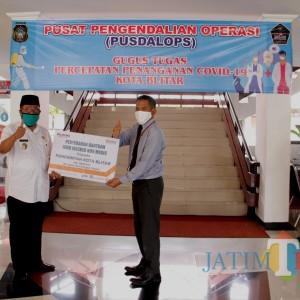 Pemkot Blitar Terima Sumbangan 1000 Masker dari Bank BNI
