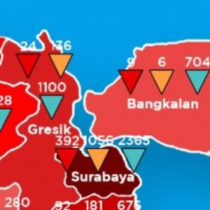 Surabaya Merah Pekat, Gubernur Khofifah Ingatkan Potensi Tembus 1.000 Kasus Covid-19