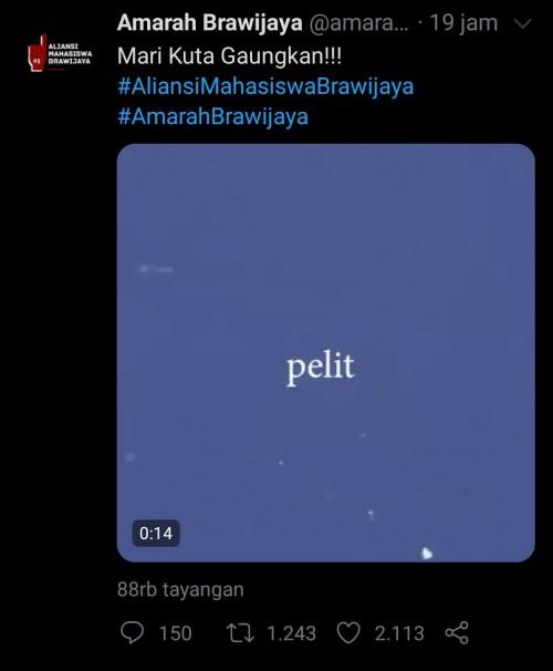Tagar Amarah Brawijaya Trending, Kampus UB Dianggap Pelit dan Main Aman