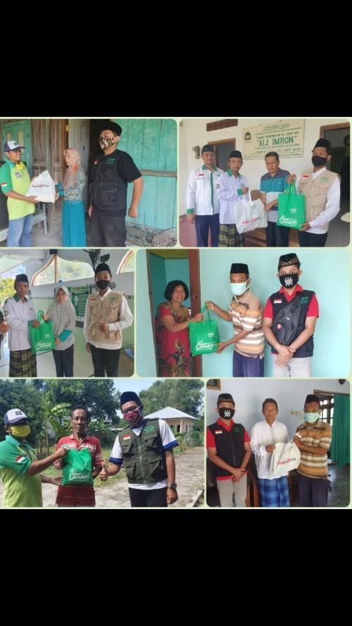 Pentasyarufan paket sembako di kelurahan klegen,kanigoro dan Tawangrejo kota Madiun