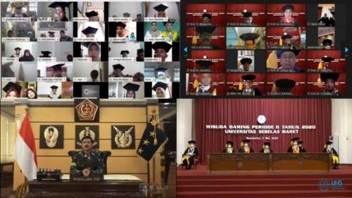 Momen Hardiknas, UNS Gelar Wisuda Daring Pertama Kalinya Kepada 259 Mahasiswa