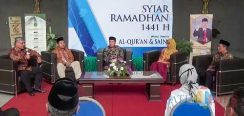 Diskusi tematik bertema Al-Qur'an dan Hukum dalam Syiar Ramadhan 1441 H UIN Malang. (Foto: istimewa)