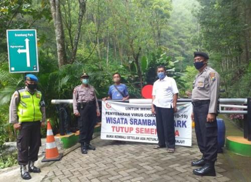 Sambangi Wisata Air Terjun Srambang Park, Kepolisian Pastikan Tutup Sementara
