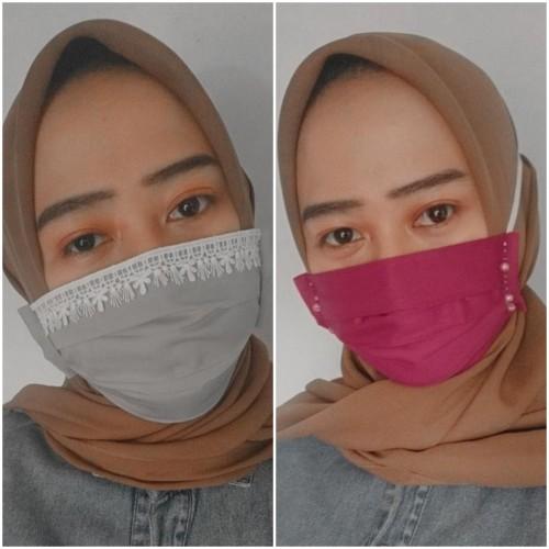 Masker Cantik buatan Zhuna Vista yang bikin penampilanmu semakin modis. (Foto: Dokumentasi Zhuna Vista).