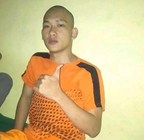 Ferdian Paleka saat sudah mengenakan baju tahanan Polrestabes Bandung (istimewa)