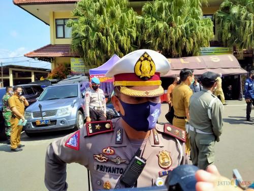Kasat Lantas Polresta Malang Kota Kompol Priyanto (Anggara Sudiongko/MalangTIMES)