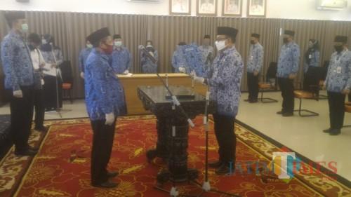 Suasana Pengukuhan Dewan Pengurus KORPRI Kabupaten Banyuwangi masa bakti 2020-2025 (Nurhadi/ JatimTIMES)