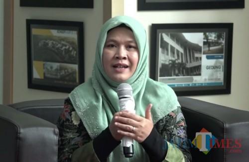 Dosen Fakultas Saintek UIN Malang Dr Sri Harini MSi dalam Syiar Ramadhan UIN Malang. (Foto: istimewa)
