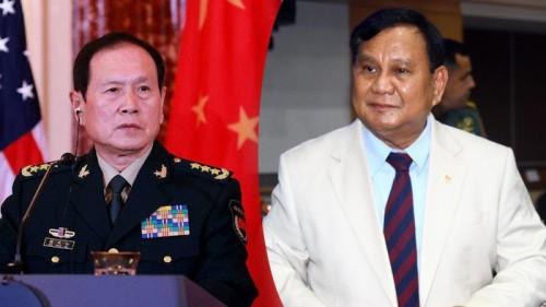 Menlu China Wei Fenghe dan Menhan RI Prabowo Subianto (Foto: IST)