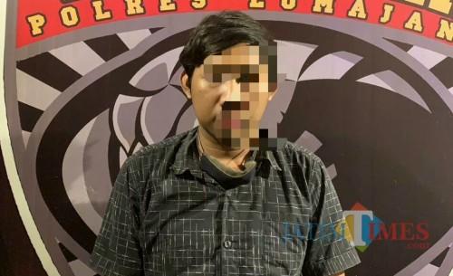 SP (28 tahun) kini harus meringkuk di tahanan Polres Lumajang (Foto : Moch. R. Abdul Fatah / Jatm TIMES)