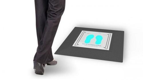Alat sanitizer sepatu yang diklaim dapat menghilangkan virus. (Foto: Pathog3n Solutions).