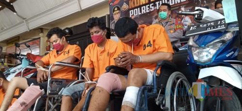 2 napi asimilasi yang kembali dijebloskan ke jeruji besi setelah kedapatan mencuri (foto: Joko Pramono/ JatimTIMES)