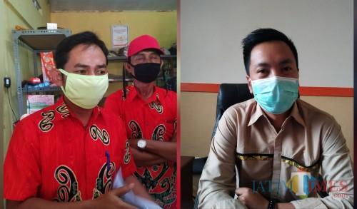 Kades Kendalbulur Anang Mustofa (kiri) dan Waka Bulog Yudhistira Askar / Foto : Anang Basso / Tulungagung TIMES