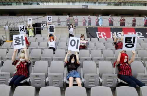 Sex dolls yang dipasang untuk dukung pemain FC Seoul (Twitter)