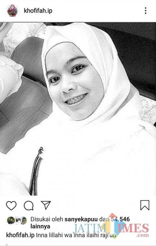 Akun Instagram Gubernur Jatim Khofifah.