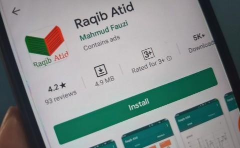 Aplikasi Raqib Atid (Foto:  Medcom.id)