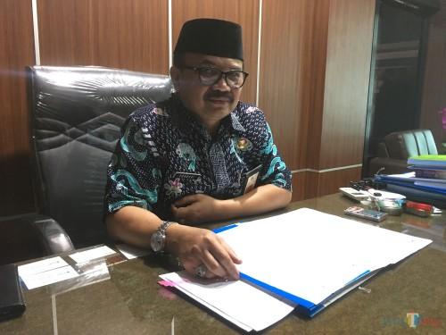 Dr Purnadi selaku Kepala Bapenda Kabupaten Malang saat menjelaskan potensi pajak dan retribusi di Kabupaten Malang (Foto : Ashaq Lupito / MalangTIMES)