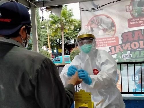 Rapid Test 33 Pedagang Sayur di Di Desa Sumberejo, Hasilnya 1 Orang Reaktif