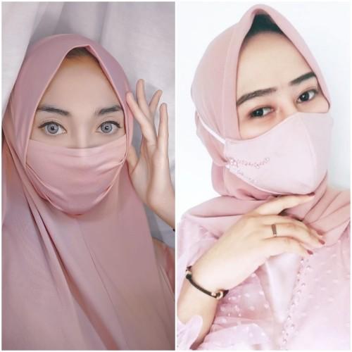 Tampilan hijab anti ribet dan masker modis untuk sambut hari lebaran. (Foto: Istimewa).