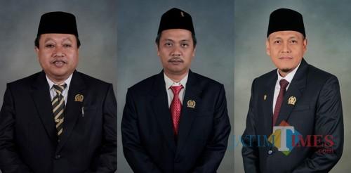 Pimpinan DPRD Kota Blitar dari kiri ke kanan : Yasin Hermanto, dr Syahrul Alim dan Agus Zunaidi