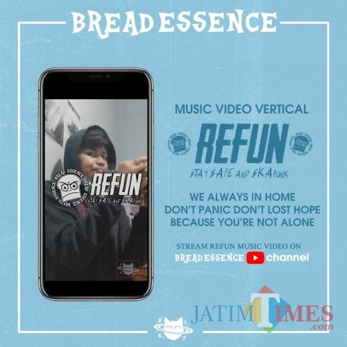 Poster launching video klip Bread Essence bertajuk Re-Fun yang dirilis melalui kanal YouTube Bread Essence, Jumat (22/5/2020). (Foto: Bread Essence for MalangTimes)