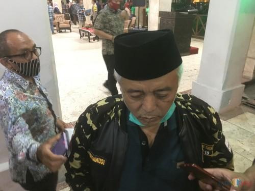 Bupati Malang HM Sanusi saat menjelaskan potensi penerapan PSBB di Kabupaten Malang beberapa waktu lalu. (Foto : Ashaq Lupito / MalangTIMES)
