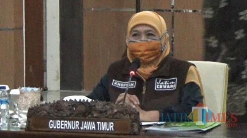 Gubernur Jawa Timur Khofifah Indar Parawansa. (Ahmad Nur Amin/MalangTIMES).