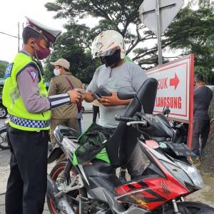 14 Hari PSBB Kota Malang, 112.653 Kendaraan Diperiksa, 1.975 Pengendara Kena Teguran