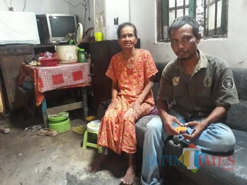Sugik Warga Pengganti Penerima BLT DD Double. (Foto:M Nasir Madiuntimes)