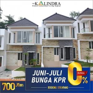 Booking Sekarang! Beli Town House The Kalindra Juni-Juli Bunga KPR 0%