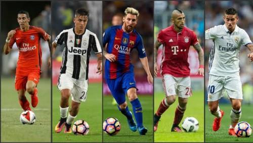 Pesepakbola Amerika Latin yang bermain di klub top Eropa (istimewa)