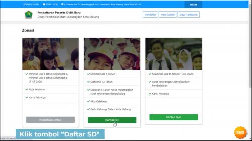 """Tampilan tutorial Pendaftaran PPDB Jalur Zonasi Kota Malang di YouTube """"disdik malang"""". (Foto: Ima/MalangTIMES)"""