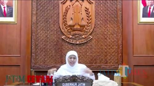 Gubernur Jatim Khofifah Indar Parawansa dalam webinar UIN Malang. (Foto: Ima/MalangTIMES)