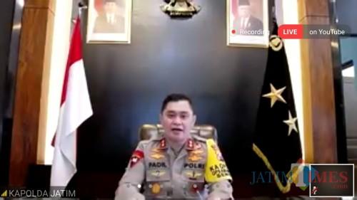 Kapolda Jawa Timur Irjen Pol Dr H Muhammad Fadil Imran MSi dalam webinar UIN Malang. (Foto: Ima/MalangTIMES)