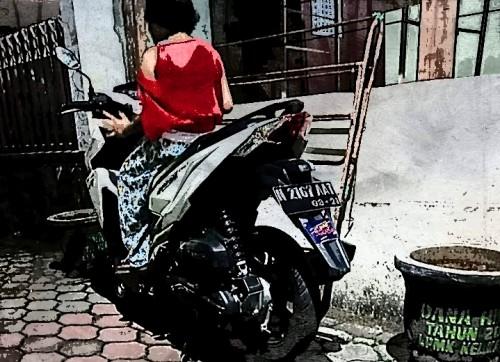 Motor korban yang dibawa kabur customernya (Ist)