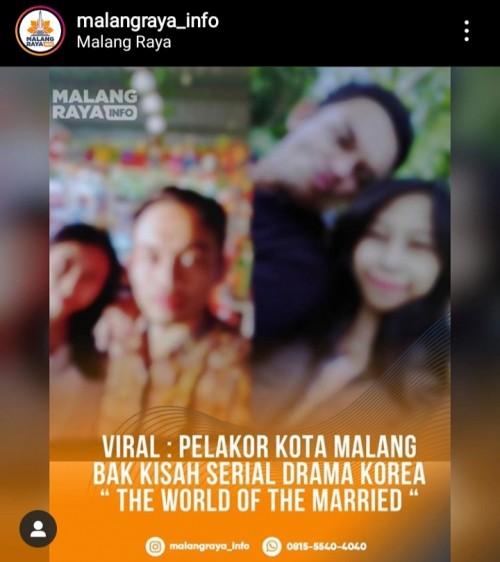 Tangkapan layar instagram info malang raya
