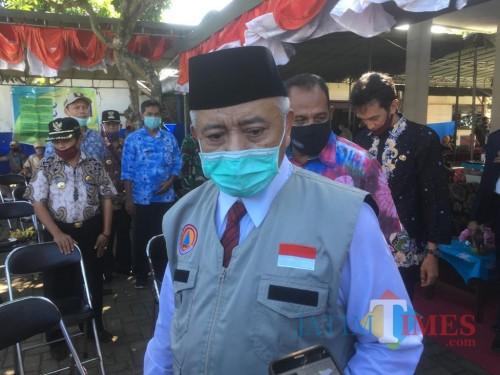 Bupati Malang, HM Sanusi saat menjelaskan konsep Kampung Tangguh yang ada di Kabupaten Malang (Foto : Ashaq Lupito / MalangTIMES)
