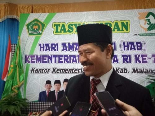 Kepala Kementerian Agama RI Kabupaten Malang, Mustain saat berada di sela-sela agenda Kemenag Kabupaten Malang beberapa waktu lalu. (Foto: Istimewa)