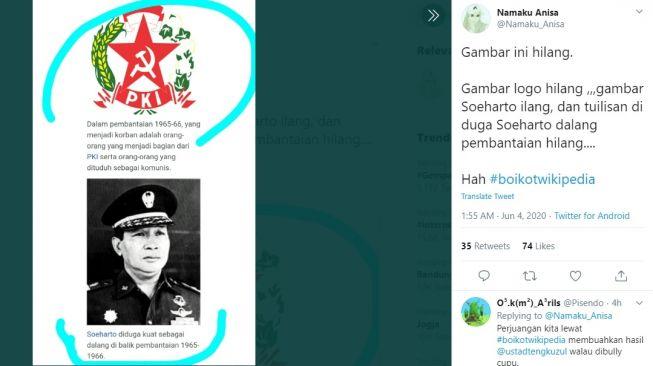 Dianggap Tulis Informasi Salah Soal G30s Pki Tagar Boikotwikipedia Trending Twitter Malangtimes