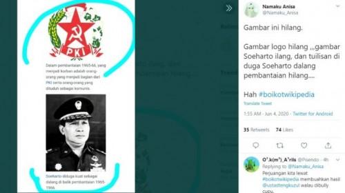 Dianggap Tulis Informasi Salah soal G30S/PKI, Tagar #BoikotWikipedia Trending Twitter