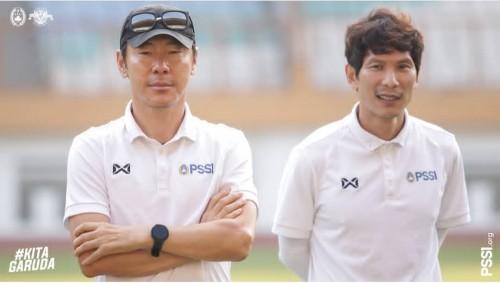 Pelatih Timnas Indonesia, Shin Tae-yong (kiri) (official PSSI)