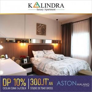 Tak Perlu Ragu Beli Apartemen The Kalindra Malang, Studionya Luas!
