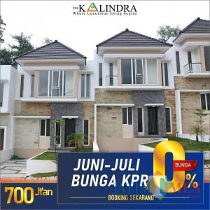 Masih Bulan Juni! Buruan Dapatkan Town House Bunga KPR 0% di The Kalindra Malang