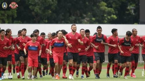 Skuat Timnas Indonesia saat berlatih sebelum adanya Covid-19 (PSSI)